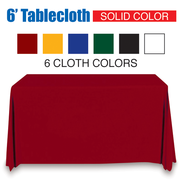 6' Tablecloth Solid Color