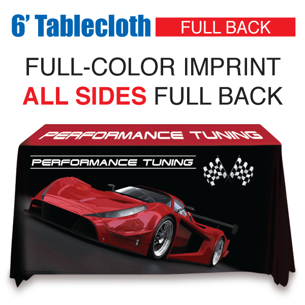 6' Tablecloth FULL-COLOR Full Back