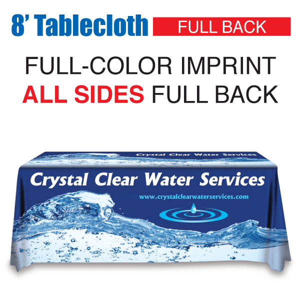 8' Tablecloth FULL-COLOR Full Back