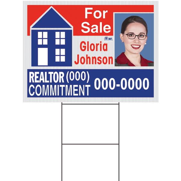 Corrugated Yard Sign