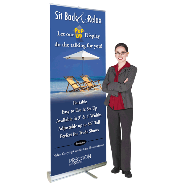 3' Premium Heavy-Duty Pop-Up Banner Stand