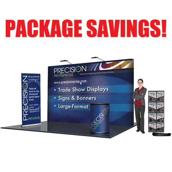 10' Straight Deluxe Trade Show Package