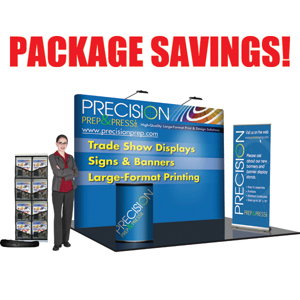 8' Straight Deluxe Trade Show Package