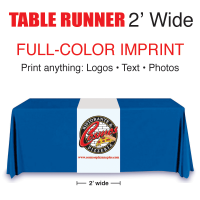 Full Color Table Runner 2' wide