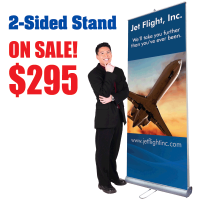 3' Two Sided Pop-Up Banner Stand