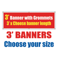 3' Vinyl Banners