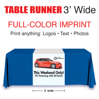 Full Color Table Runner 3' wide