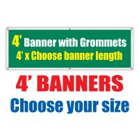 4' Vinyl Banners