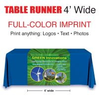 Full Color Table Runner 4' wide