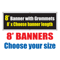 8' Vinyl Banners