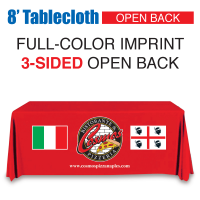 8' Tablecloth FULL-COLOR Open Back