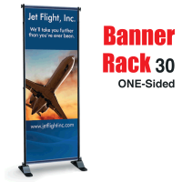"30"" Banner Rack ONE-SIDED"