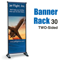 "30"" Banner Rack TWO-SIDED"