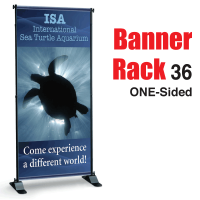 "36"" Banner Rack ONE-SIDED"