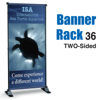 "36"" Banner Rack TWO-SIDED"