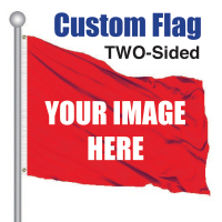 5' x 7' Cusom Pole Flag TWO SIDED