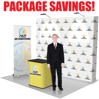 10' Straight Pop Up Fabric Trade Show Package