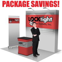 8' Straight Pop Up Fabric Trade Show Package