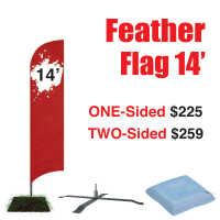 14' Feather Flag