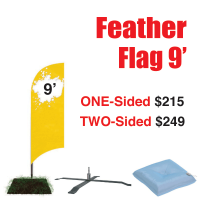 9' Feather Flag