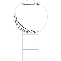 Corrugated Golf Ball Sponsor Sign ONE or TWO Sided