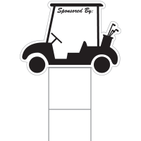 Corrugated Golf Cart Sponsor Sign - ONE SIDED ONLY