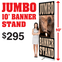 JUMBO 10' Banner Stand