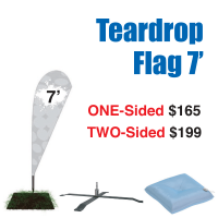 7' Teardrop Flag