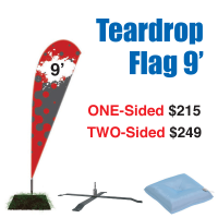 9' Teardrop Flag